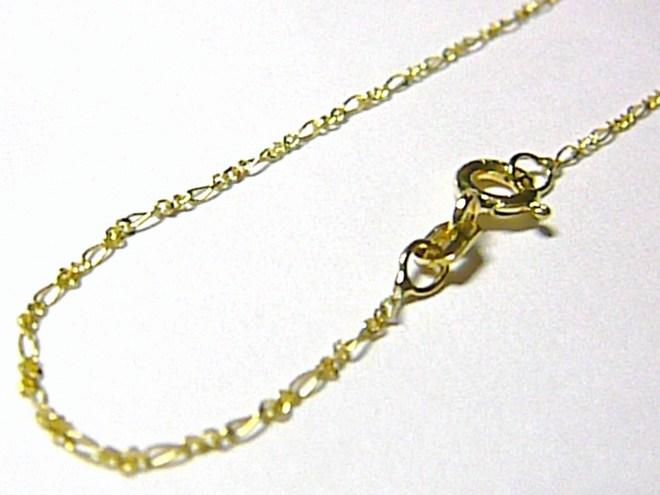 Dámský zlatý řetízek ze žlutého zlata (FIGARO) 45cm/1,07gr H044