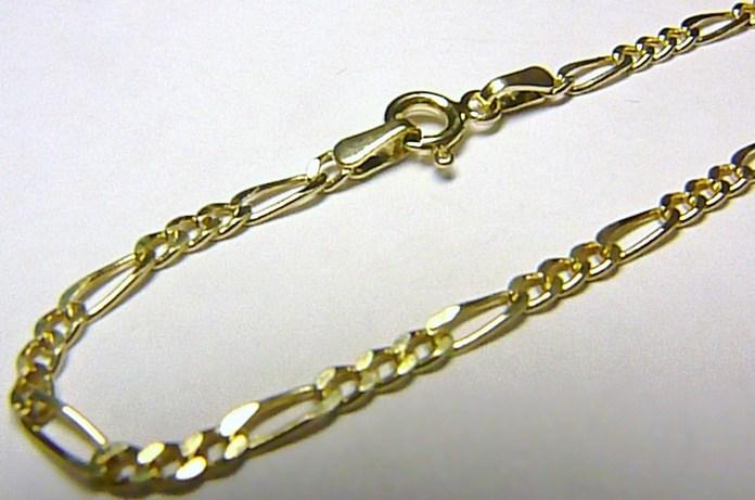 Pánský luxusní mohutný zlatý řetěz žluté zlato FIGARO 50cm/2,02gr H045
