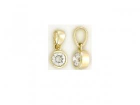 Zlatý přívěsek ze žlutého zlata s pravým diamantem 0,14ct 585/,0,47g
