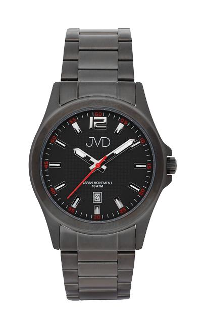 Černé moderní vodotěsné náramkové hodinky JVD steel J1041.5 - 10ATM