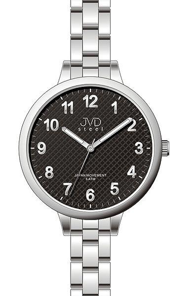 Dámské přehledné čitelné náramkové hodinky JVD steel J4113.1