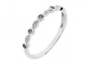 Prsten s diamantem, bílé zlato briliant, smaragd (emerald)