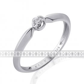 Luxusní zásnubní prsten s diamantem, bílé zlato brilianty