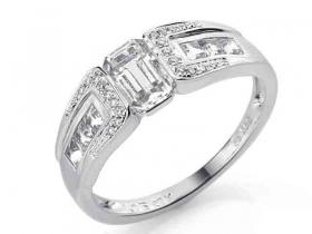 BÍLÉHO ZLATA | Prsteny z bílého zlata | Prsten s diamantem ...