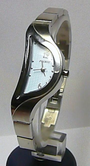 Dámské luxusní stříbrné módní hodinky Foibos 8G82 SLZA s modrým číselníkem
