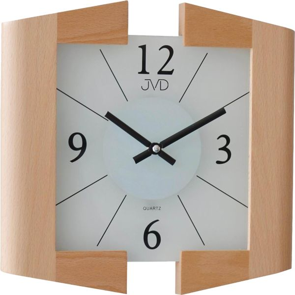 Luxusní světlé dřevěné nástěnné hodiny JVD N12047. 68