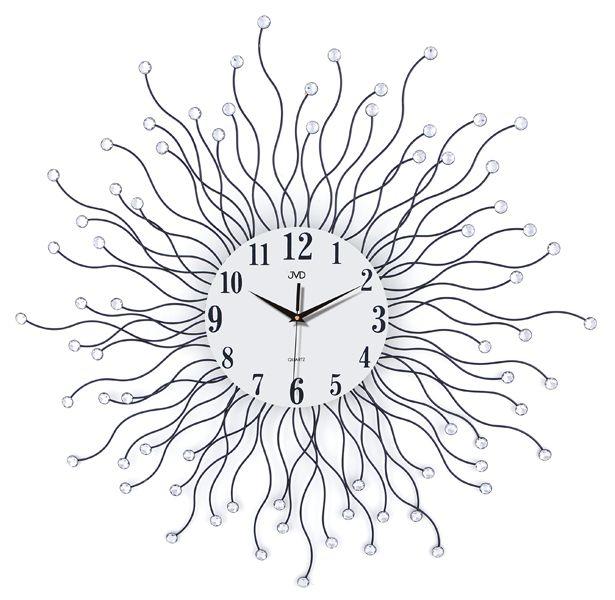 Luxusní kovové obrovské nástěnné designové hodiny JVD HJ19 pr. 78cm