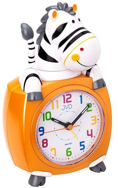 Oranžový dětský budík JVD SR932.3 zebra