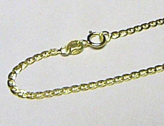 Luxusní dámský zlatý řetěz řetízek 45cm 585/2,16gr H061