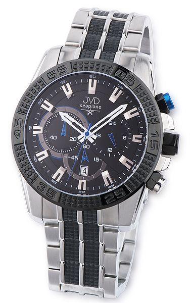 Odolné pánské vodotěsné chronografy náramkové hodinky JVD seaplane JS27.1