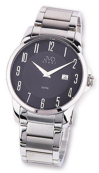 Pánské ocelové moderní stříbrné náramkové hodinky JVD steel W18.1 5ATM