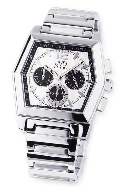 Moderní ocelové pánské náramkové hodinky JVD steel C1126.2