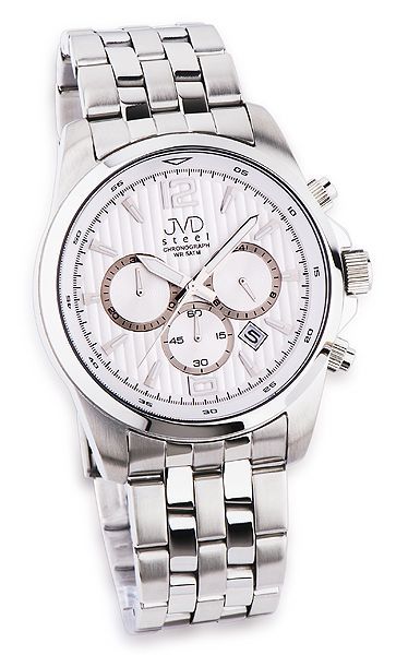 Luxusní pánský chronograf se stopkami hodinky JVD steel JA601.1
