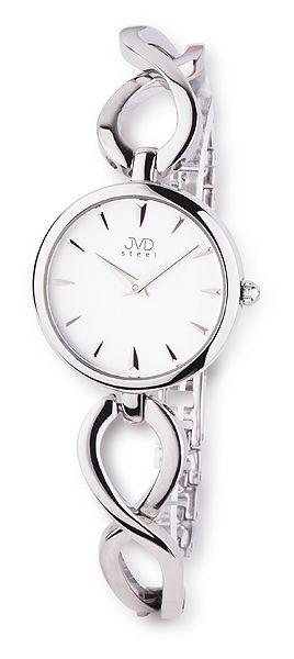 Dámské ocelové stříbrné moderní náramkové hodinky JVD steel JA098.1