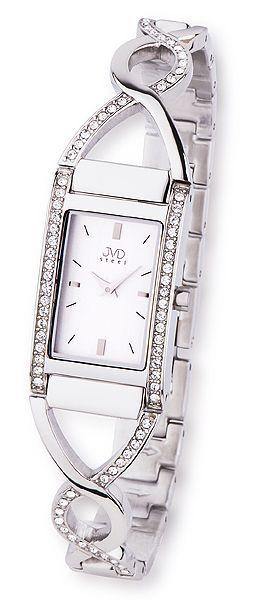 Luxusní stříbrné nerozvé dámské hodinky JVD steel JA095.1