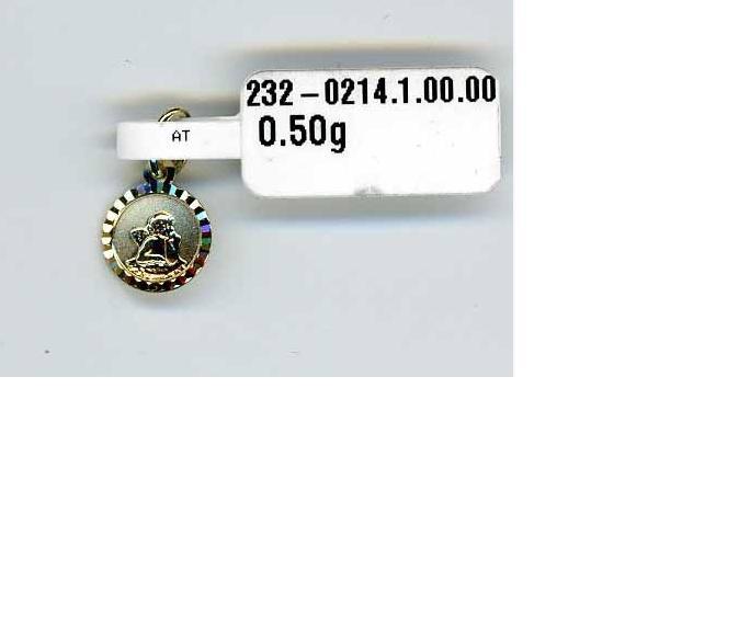 ZLatý přívěsek ze žlutého zlata - andělíček - 585/0,5gr P111