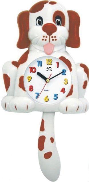 Dětské hodiny JVD HF 61.1 s kývajícím se ocasem (pejsek)