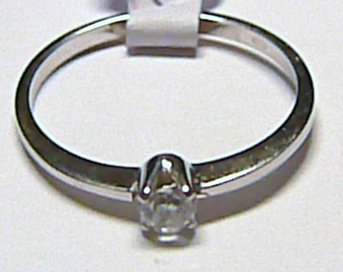 Zásnubní zlatý prsten z bílého zlata se zirkonem 585/1,28 gr vel. 54 Z018