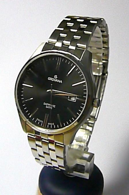 Luxusní pánské švýcarské hodinky Grovana 1568.1137 se safírovým sklem 5ATM (1568.1137)