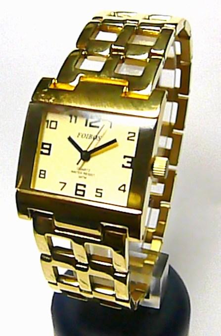 Celozlaté titanové antialergické dámské hodinky Foibos 20871 (zlacené)