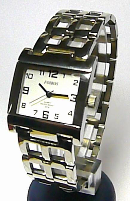 Stříbrné titanové dámské hranaté hodinky Foibos 2087 3ATM