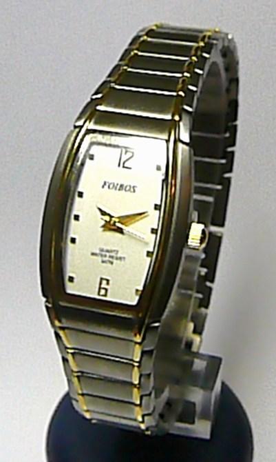 Celotitanové antialergické dámské hodinky Foibos 19732 se zlatými proužky