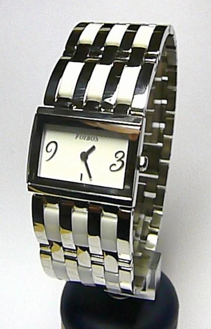 Luxusní dámské bílé keramické ocelové hodinky Foibos 1B56 (bílá keramika)
