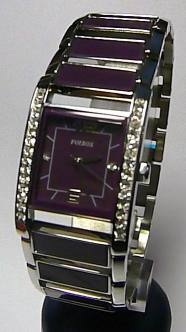 Luxusní dámské fialové keramické ocelové hodinky Foibos 1G82 (1g27)