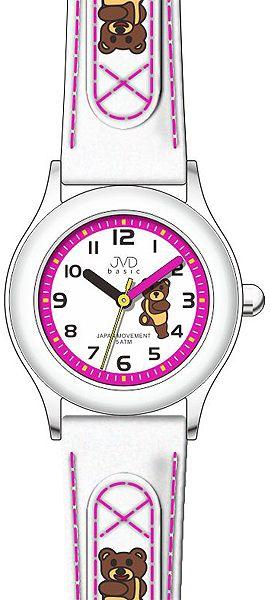 Dětské bílo - růžové náramkové hodinky JVD basic J7034.4