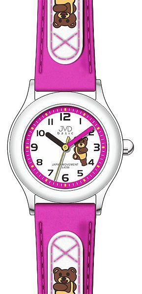 Dětské růžové náramkové hodinky JVD basic J7034.6