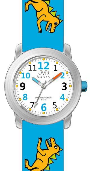6150fcd8da3 Dětské modré chlapecké hodinky JVD basic J7123.3 s pravěkým raptorem