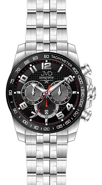Luxusní ocelové chornografy náramkové hodinky JVD seaplane H09.1 10ATM