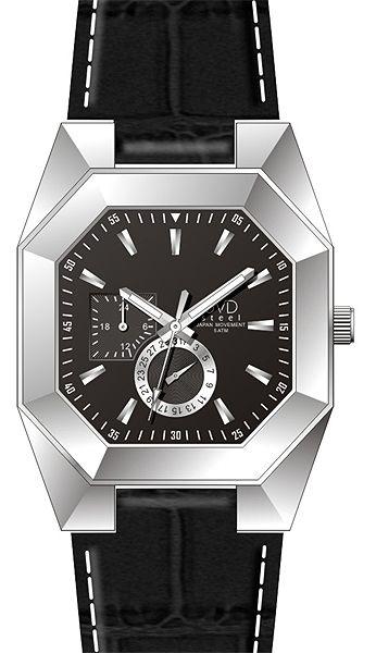 Designové hranaté ocelové náramkové hodinky JVD steel J1052.1 - 5ATM