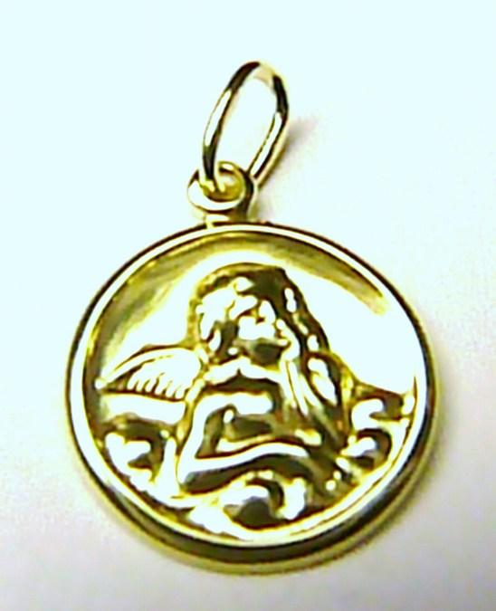 Velký zlatý přívěsek - zlatý anděl - andělíček ze zlata 0,8gr S096