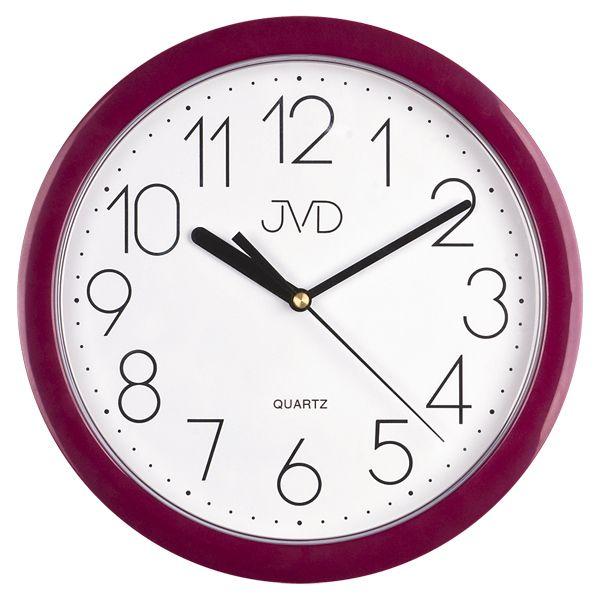 Fialové moderní netikajcíí hodiny JVD sweep HP612. 10
