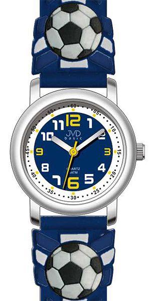 Modré dětské fotbalové náramkové hodinky JVD basic J7007.8 - 5ATM