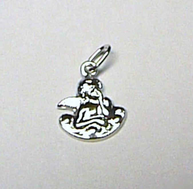 Zlatý anděl - přívěsek z bílého zlata - andělíček 585/0,45gr S105