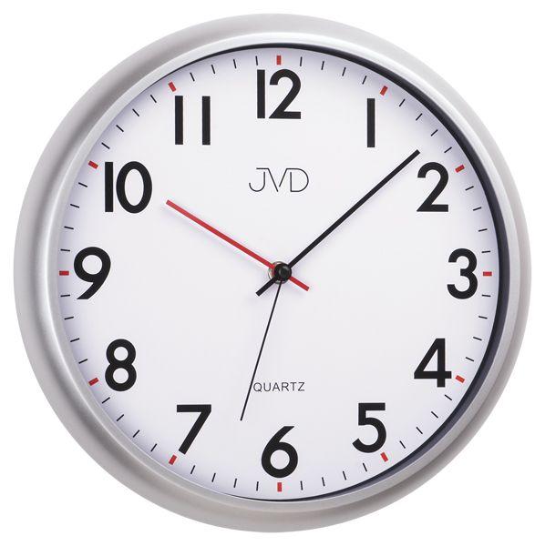 Moderní tiché šedé nástěnné hodiny JVD sweep HA2.1