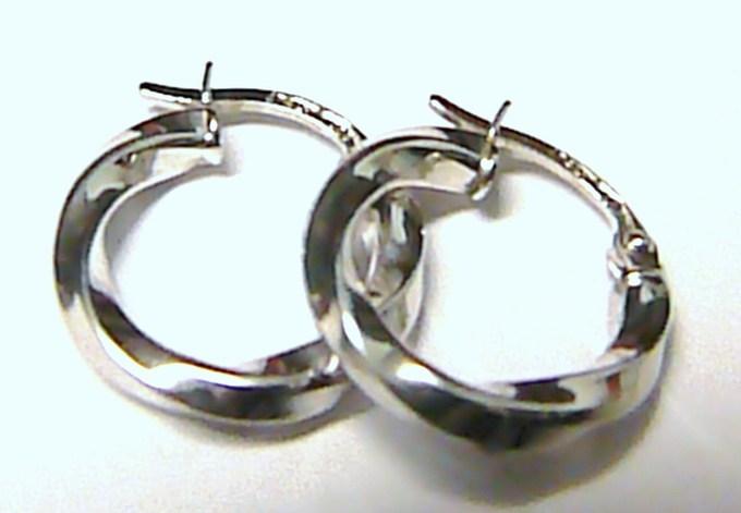 Točené luxusní dámské mohutné zlaté kruhy z bílého zlata pr.18mm 585/1g T064