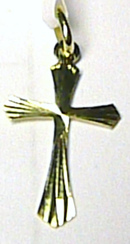 Zlatý přívěsek - zlatý křížek s gravírováním 585/0,35gr T076