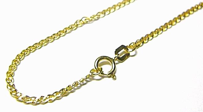 Dámský silnější zlatý náramek na ruku 585/1,04gr 19cm H083