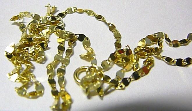 Mohutný luxusní zlatý řetízek ze žlutého zlata 585/1,43gr 50cm H088