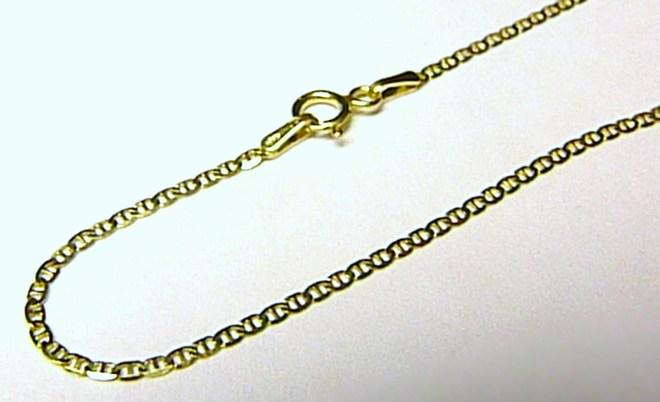 Mohutný dámský luxusní zlatý řetízek 585/1,7gr 50cm H092