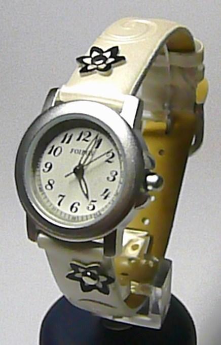 Dětské bílé holčičí hodinky Foibos 1583 pro dívky