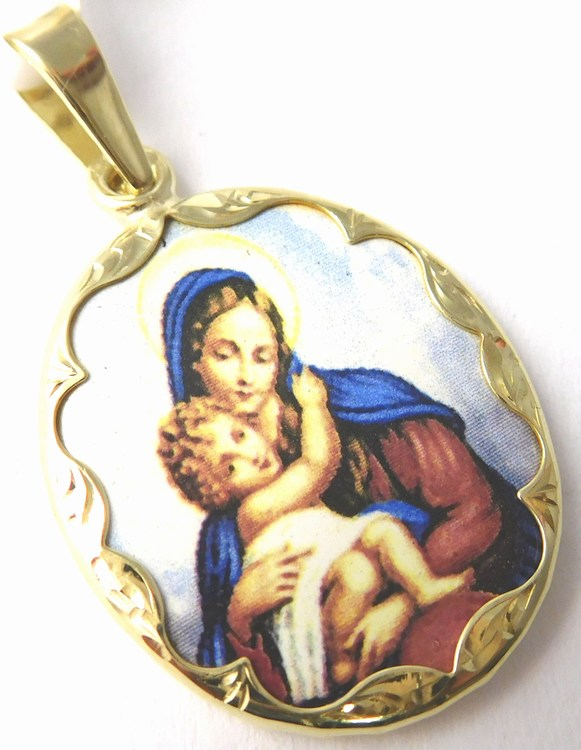 Zlatý přívěsek - zlatá madonka - panna Maria 585/3,52gr 3320065 (3320065 - POŠTOVNÉ ZDARMA )