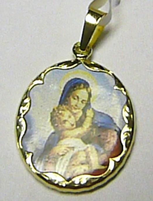 Zlatý přívěsek - zlatá madonka - panna Maria 585/2,70gr 3320065 (3320065)