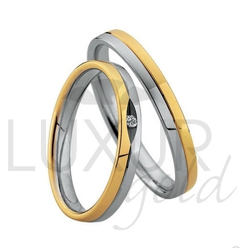 Elegantní luxusní šperkové snubní prsteny z kombinace zlata 436-506-507.5