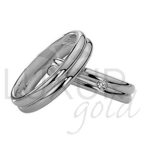 Luxusní snubní prsteny bílé zlato 436-504-505 snubáky - cena 1ks