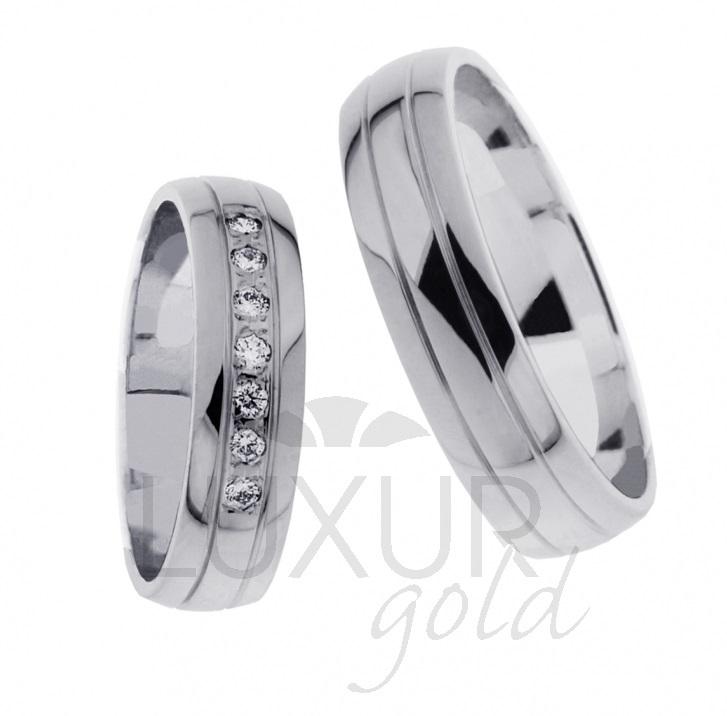 Snubní prsten bílé zlato 436-621-622 z bílého zlata cena 1ks
