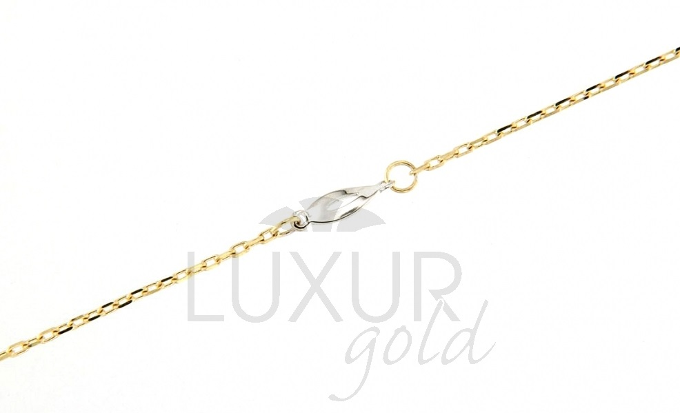 Ozdobný zlatý náramek ze žlutého a bílého zlata 19cm 1440609-5-12-0